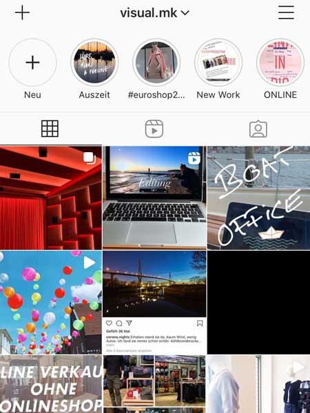 Instagram von Visual MK