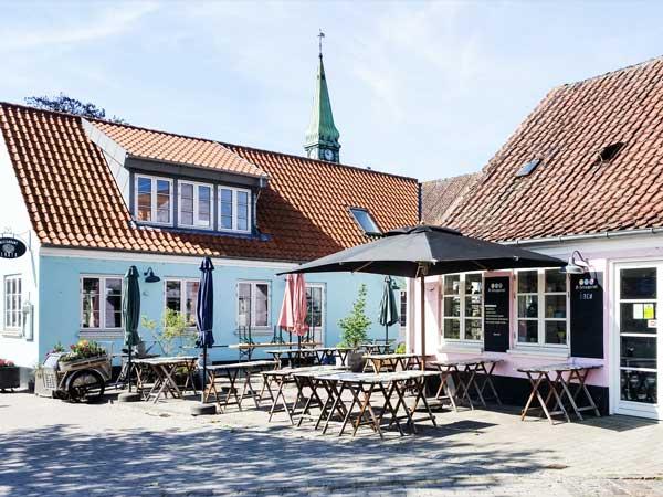 Authentischer Marktplatz Dänemark